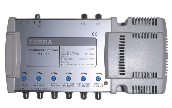 Усилитель телевизионный многовходовый средней мощности с количеством входов - 6 шт.  (3-МВ + 3-ДМВ) .